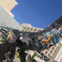 space whale sculpture in downtown reno