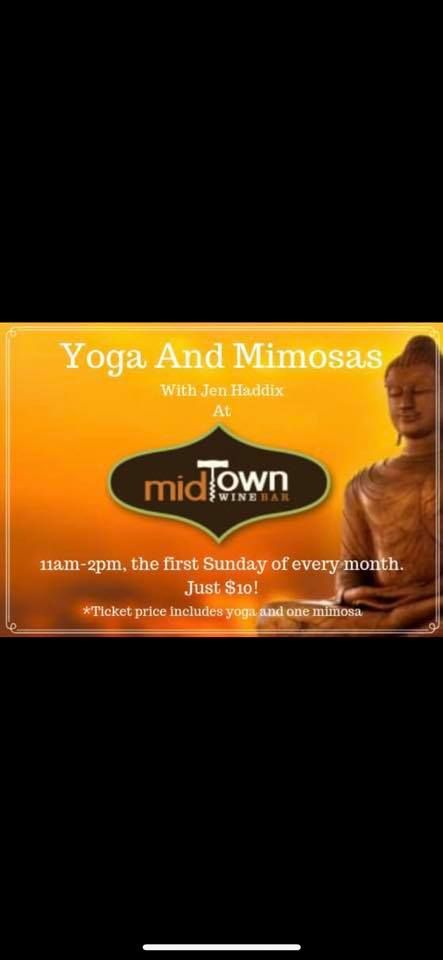 Midtown Wine Bar, Yoga and Mimosas