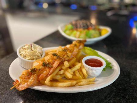 Smee's Alaskan Fish Bar, Shrimp Skewers